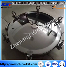 Low Price SS304/SS316L Sanitary Grade Manhole Cover with stainless steel hand wheel