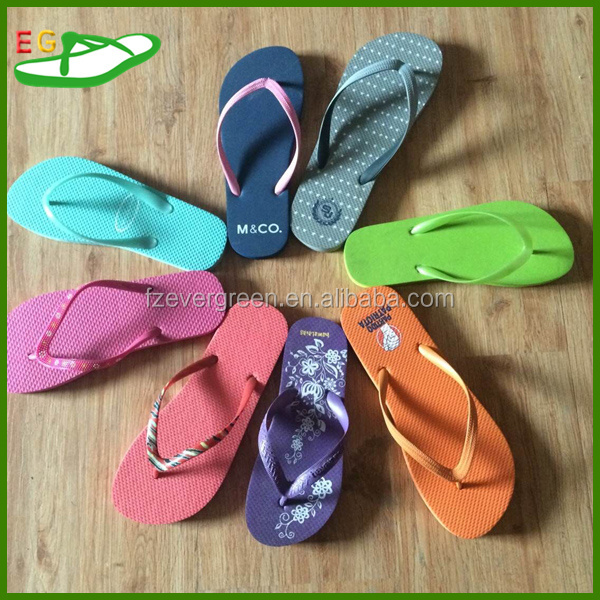 Special Offer Promotional flip flop with pure color and 13mm thickness PE Outsole PVC Strap 0.28USD FOR one container