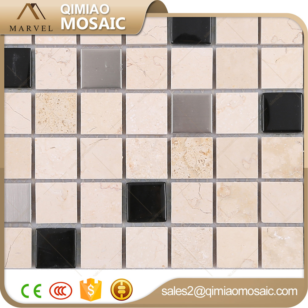 Interior Decoration Mixed Rosin Yellow Stone Glass Tile