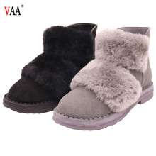 AN-CF-30 Ankle length zipper design antiskid rubber sole womens genuine leather sheepskin lined boots