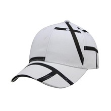 black white stripe hat pre-curved new style sports cap baseball caps
