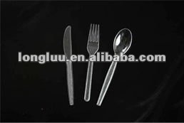 Promotional disposable transparent plastic party tableware