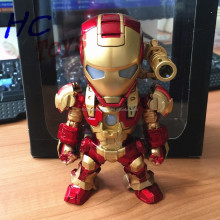 Plastic iron man with LED Light Effect, OEM PVC Action Miniature Souvenir, Plastic Super Hero Doll
