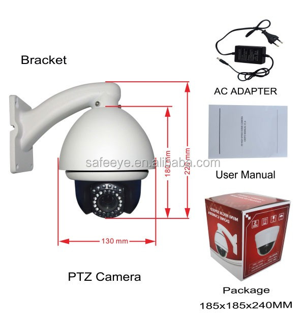 Ceiling Mount Mini High Speed PTZ  Dome Camera AHD TVI 4in 1
