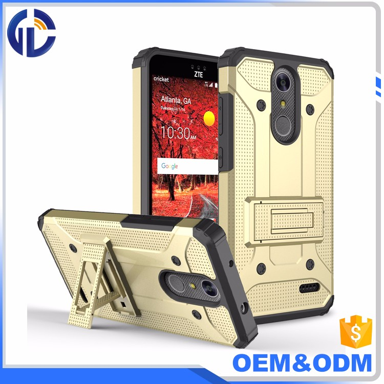 mobile phone free sample double cell 2 in 1 shockproof phone case for zte grand x4