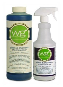 GLASS CLEANER ALSO CLEANS STAINLESS