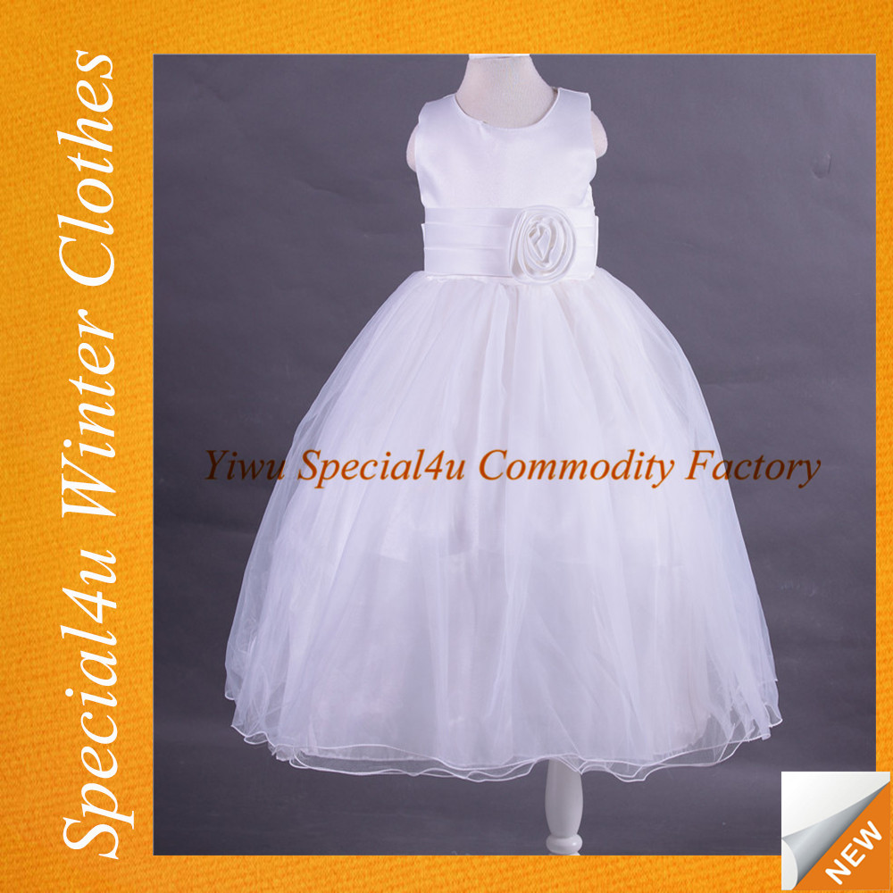 New design white long party dress online store baby girl wool dress fancy dresses for baby girl HJ-559