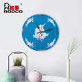 ROOGO wholesale resin newest handmade modern flamingo or unicorn home ornament circular woodblock wall hanging for return gift
