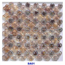 Elegant crystal mixed diamond shaped wall decoration glass mosaic tiles