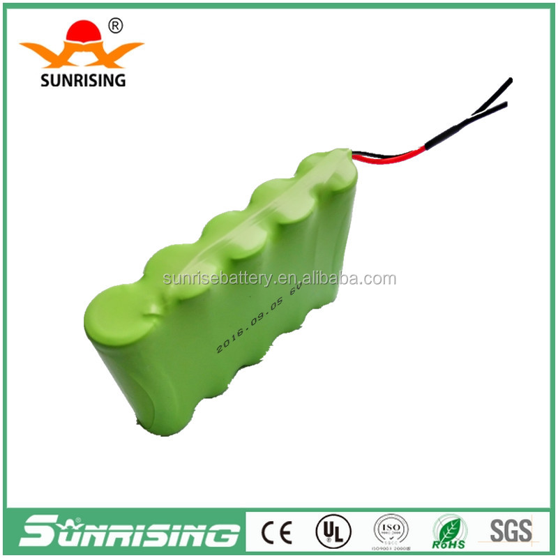 6.0v nimh rechargeable battery pack AA2000mAh for solar lights /for tools