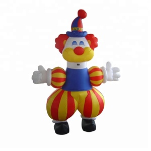 Standing party cartoon inflatable clown cartoon for decoration