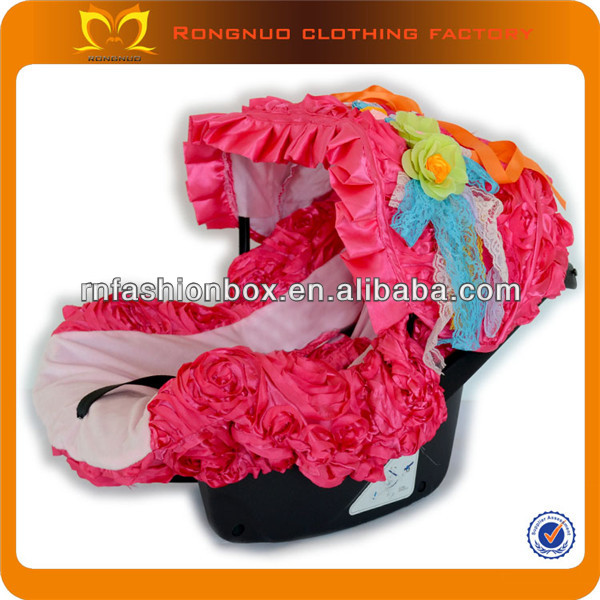 New design seat cover for baby fairy hot pink cotton graco infant car seat covers wholesale