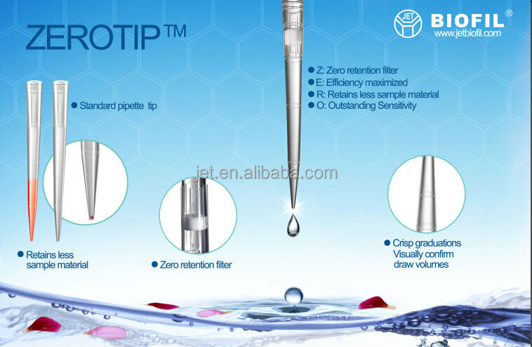 ZEROTIP, Bulk Packed Universal Fit Non-Steriled Micro Pipette Tips, Polypropylene, 100 to 1000 ml Volume (Case of 10000)