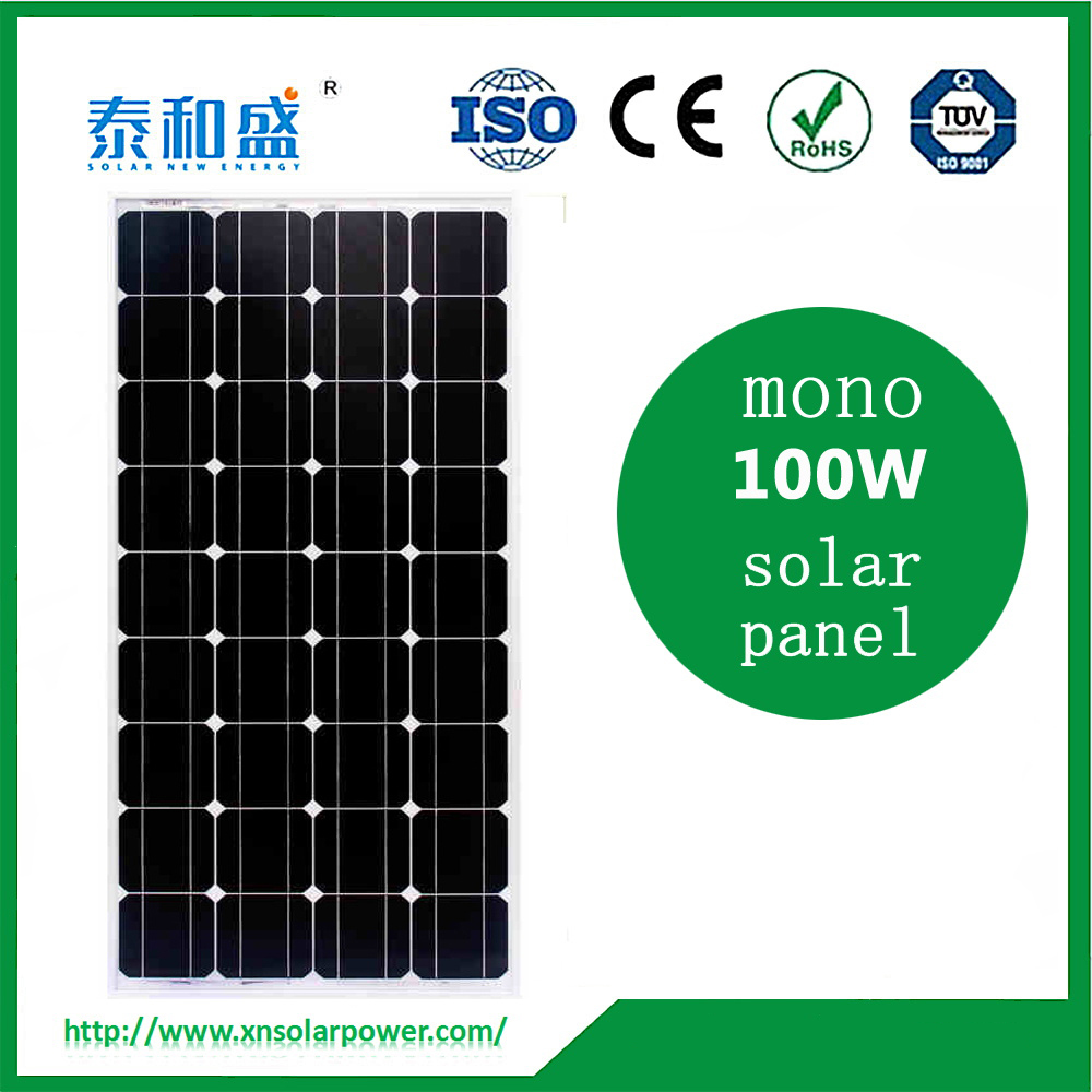 100w high efficiency mono/poly solar panel for sale