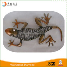 2016 cheap price metal wire gecko for wall art