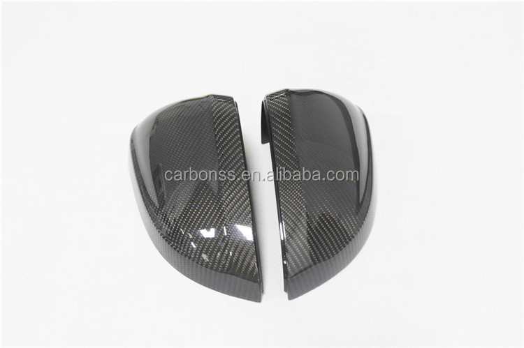 Carbon Fiber Rearview Wing Replacement Mirror Cover Without Side Assit Light For Audi A4 B9 A5 S5 2016+