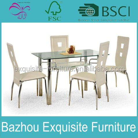 See More Photos New 7 pc Espresso or White Glamour Dining Set Glass Table Top 6 Chairs