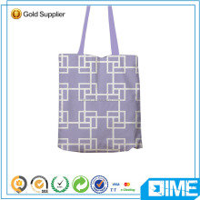 Assessed supplier 100% organic printed cotton woven canvas tote bag