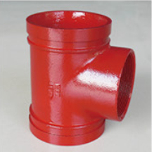 Ductile Iron Reducing Tee Threaded/Fire Fighting