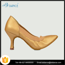 beige pigskin elastic tape modern dance shoes zapatos de mujer191