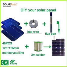 mini solar panel 4v solar panel suppliers solar cell kit 125*125mm mono solar cell use flux pen+tab wire+bus wire demo experime