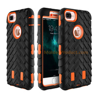 Shock-resistant Phone Case - Double-deck Strong Silicone Phone Cover for Smart Phone