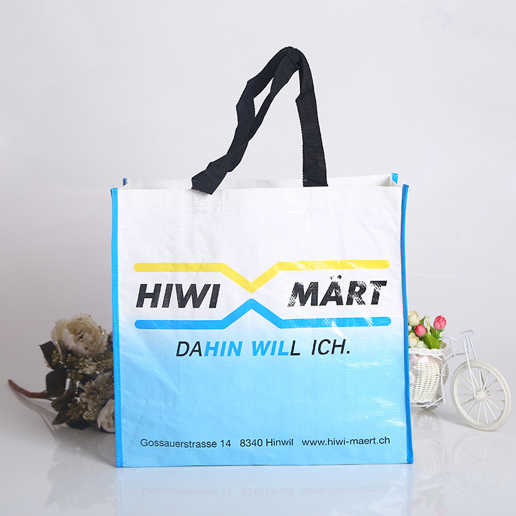 china supplier color printed laminated pp woven shopping Eco bag