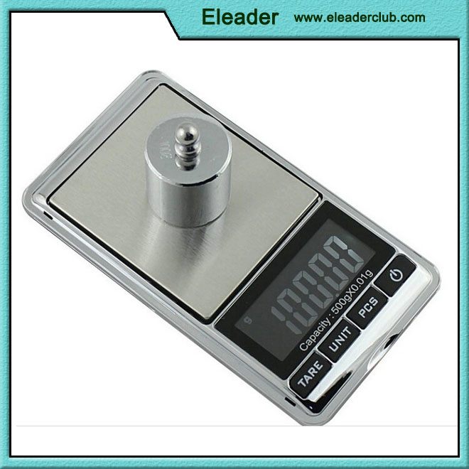 Portable mini lcd Digital Pocket Scale, 500 by 0.01 G,Jewelry scale