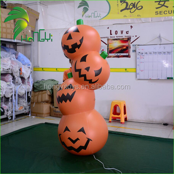 Halloween Lighting Event Decoration Inflatable Pumpkin For Stage