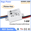158 KEGU R01 1-6W Constant Current LED Driver led transformer 3v with TUV CE SAA