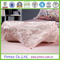 European Luxury Silk Floss Satin Jacquard Bedding Sets Royal Peony Pattern Duvet Cover Sets 4 Pieces