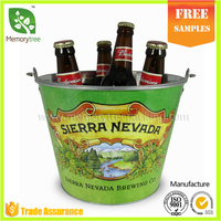 Promotional colorful oval metal beer ice bucket