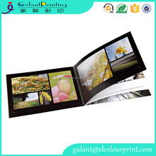 High Quality leather bound brochure cardboard photo Book