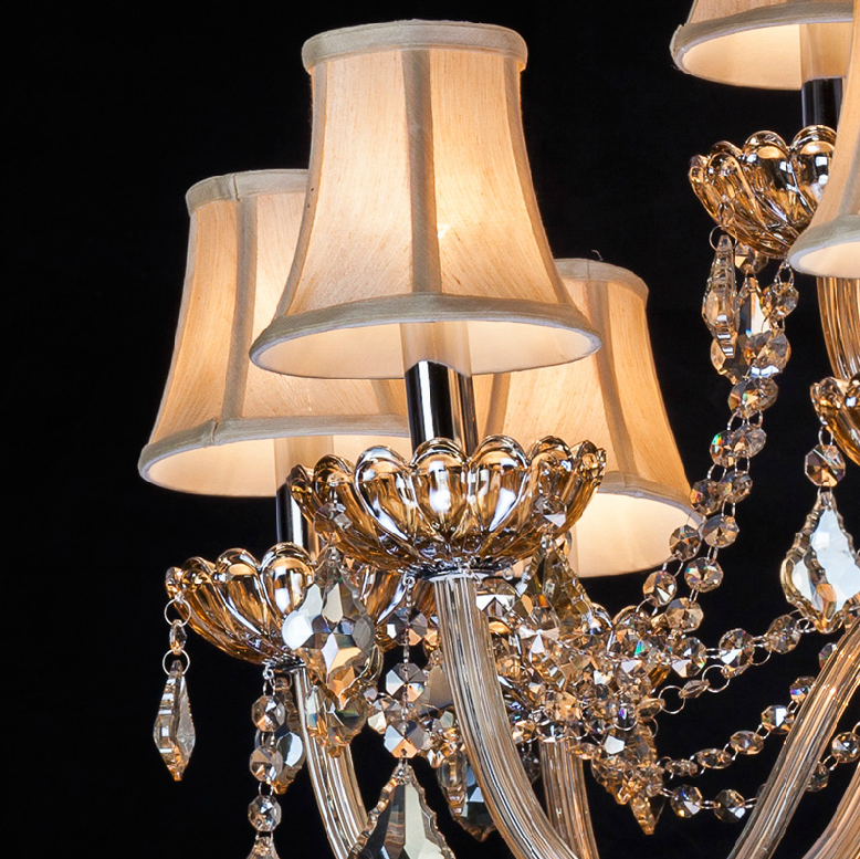 European Western Modern chandelier light with 10 + 5 lamps