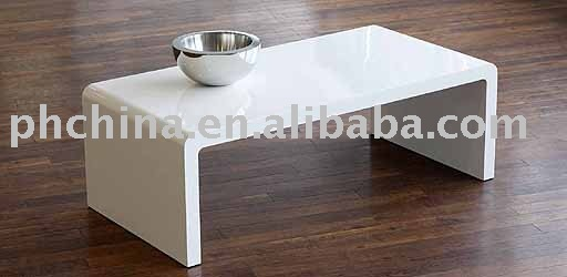 Mini White Acrylic Coffee Table,Solid Color Acrylic Table LY-1014