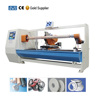 Single shaft automatic adhesive tapes log roll cutter