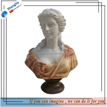 Natural Marble Custom Lady Bust Statue in Stock