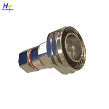 RF Coaxial DIN Male Connector 50 ohm for 1 / 2 coaxial cable