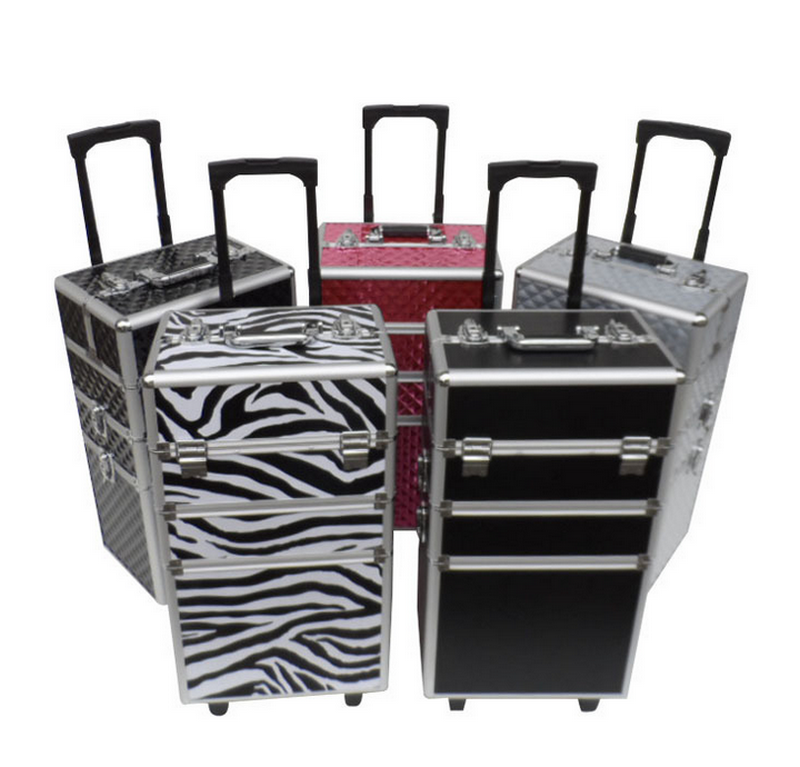 Luggage <strong>ABS</strong>+PU hard aluminum trolley case/rolling aluminum briefcase hard case