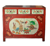 Antique furniture chinese painted small cabinet LWB542