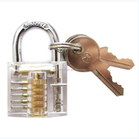 WLOCK002 miniature small transparent practice lock for lock pick set locksmith use