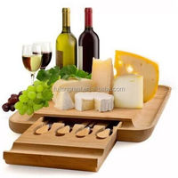 Bamboo Cheese Board Set With Slide