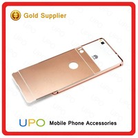 [UPO] 2016 Luxury Electroplating Bumper Hard PC Plastic Shockproof 24k Acrylic Back Cover Case for Huawei P8