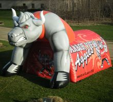 giant inflatable cow tunnel inflatable sport event entrance tunnel moto activity event