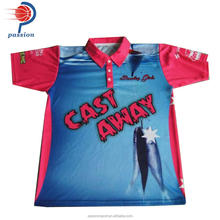 Lowest Price High Quality Unisex Custom Sublimated Fishing Shirts With 3Buttons