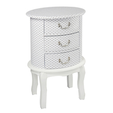 Home Bedroom Furniture Wood Type Antique White Bedside Table