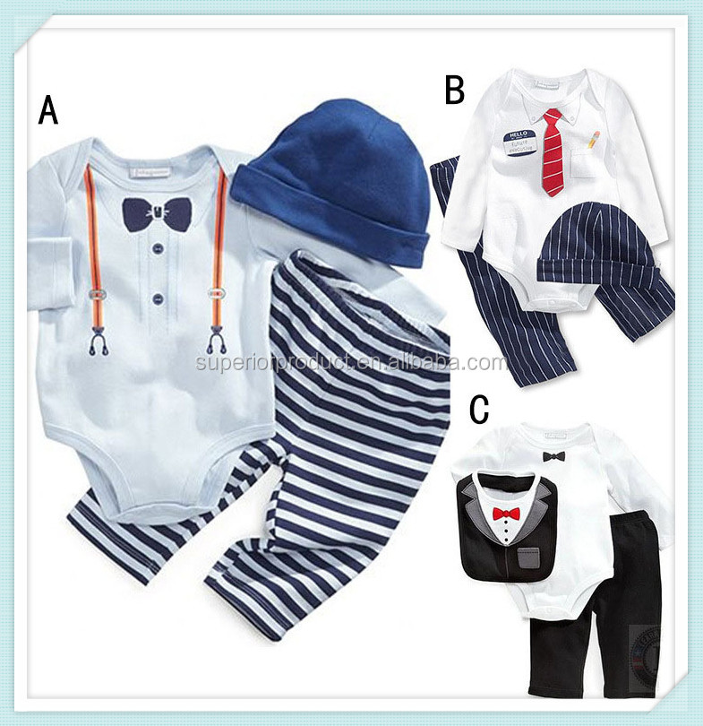 Children's Leisure Clothing Sets Kids Baby Boy Suit Vest Tie Gentleman Clothes For Weddings Formal Romper