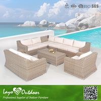 ISO9001 certification large quantity of promotional vatation house indoor sofa suite rattan furniture