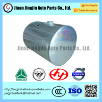 all kinds of Aluminum round shape fuel tank for Sinotruk