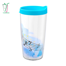 150ml 16oz 22oz Custom Printed Double Wall Reusable Party Plastic Drink Coffee Cup With Lid